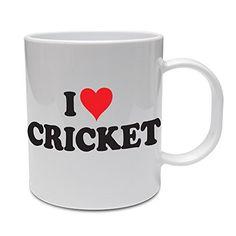 I Love Cricket - Cricketer / Bowler / Sport / Gift / Funny Themed Ceramic Mug