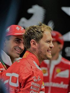 Marc Gene, Ferrari and Sebastian Vettel, Ferrari. Photo by Sutton Images on September 2017 at Italian GP. Formula One World Championship photos. Ferrari Scuderia, Ferrari F1, Marc Gene, Thing 1, Car Memes, World Championship, Formula One, First World, Racing