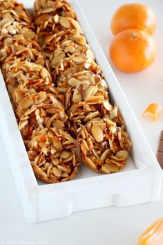 Thin, delicate and crispy, these chocolate-dipped almond florentines are the perfect tiny cookies for any special occasion. Favorite Cookie Recipe, Favorite Recipes, Florentine Cookies, Florentine Biscuits, Cookie Recipes, Dessert Recipes, Florentines Recipe, Roh Vegan, Crispy Cookies