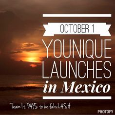 October 1st Younique launches in Mexico! #mexico#makeup#launch