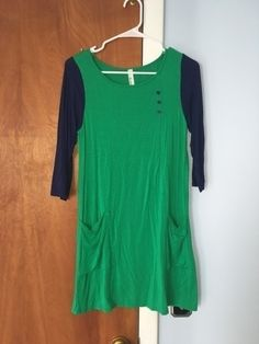 My Color Block Tunic Dress by Emerald! Size 8 / M, Summer dresses for $$15.00. Check it out: http://www.vinted.com/womens-clothing/summer-dresses/19935699-color-block-tunic-dress.