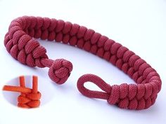 How to Make a Simple Quick Deploy Single Strand Knot and Loop Paracord Survival Bracelet-CbySIn this tutorial I show you how to tie a snake knot. The knot has many uses in rope crafts, from making bracelets, lanyards, to even making dog leashes and zipper Paracord Tutorial, Bracelet Tutorial, Braided Bracelets, Paracord Bracelets, Survival Bracelets, Hemp Bracelets, Snake Knot Paracord, Diamond Knot, Rope Crafts