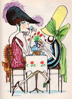 Art by Mark Simont (1967) 'Tea Time.'