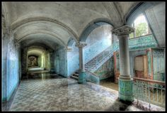 Abandoned Hospital - Germany; I would not dislike hospitals nearly as much if they all still looked like this...