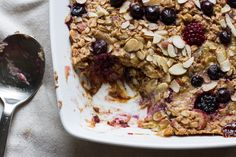 edible perspective - Home - Rhubarb Berry BakedOatmeal