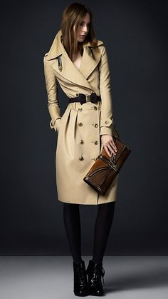 Burberry trench...