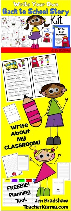 Write Your Own Story ~ Back to School edition~ perfect for beginning writing for the new school year.  Teachers keep kids busy and learning. #write #story #backtoschool
