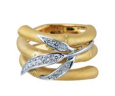 "Carrera y Carrera .24ctw Diamond ""Bambu Zen"" Ring"