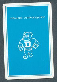 Drake University Bulldogs Iowa playing card single swap JOKER - 1 card