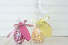 Eggs to deliver to your Visiting Teaching ladies with an Easter message and treat....great idea