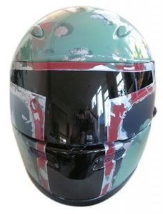 Boba Fett Motorcycle Helmet Looks Sinister and Cool