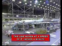 Lean manufacturing processes in the assembly of the Boeing 737, amazing time-lapse video