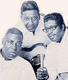 Chess Records royalty: Howlin' Wolf, Muddy Waters and Bo Diddley. Some of the core riffs created by them and others were the basis of a wide amount of Rock n' Roll. Many or their (and labelmate Chuck Berry's) songs were copied by many famous Rock n' Roll bands and artists such as The Beatles, The Rolling Stones, The Beach Boys and Eric Clapton.