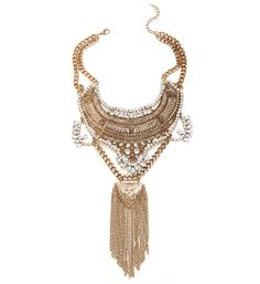 Gold Just Not Over It Yet Statement Necklace Set