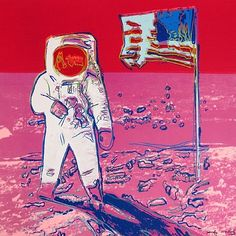 Andy Warhol: Moonwalk. Find a favorite photograph and recreate it after a famous artist