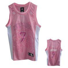 Women New York Knicks  7 Carmelo Anthony Pink Jersey ID 1301  20 Amar  f6269e1050