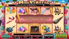 If you want to try a casino game with a theme that is devoted to children entertainment, then play #MadPiñatas slot machine. It's a five reeled slot machine with three rows of symbols and twenty-five lines. Piñata is a #funny entertainment that the #Mexicans organize for children at various celebrations. It's really a large hollow toy made from papier-mâché or paper, painted in #vibrant colors and filled with candies and various other sweets.