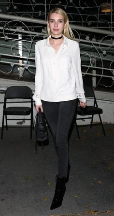 Emma Roberts leaving Madeo Restaurant in West Hollywood 11/16/16