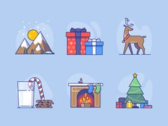 Xmas icons for Advent Calendar - coming soon!! by Laura Reen #Design Popular #Dribbble #shots