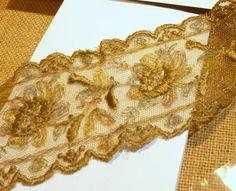 Antique French silk  lace Trim  blonda de por ElTallerAnaGaspar