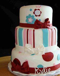 Girlie Birthday Cake