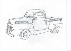 Ford Pickup Truck Drawings Sketch Coloring Page Old Ford Pickup Truck, Old Ford Pickups, Old Ford Trucks, Diesel Trucks, Pickup Camper, 4x4 Trucks, Antique Trucks, Vintage Trucks, Ford Ranger