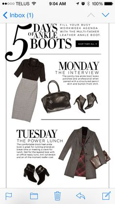 5 days of Ankle boots! Monday and Tuesday #lechateau