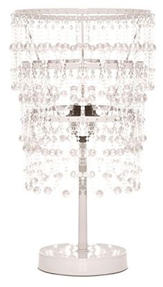 rock your room chandelier table lamp clear - Chandelier Table Lamp