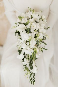 Flowers Bride Bridal Bouquet White Fresia Lily Vintage 1930s Wedding Worthing Pier West Sussex https://clairemacintyre.com/ #wedding #Flowers #Bride #Bridal #Bouquet #White #Fresia #Lily