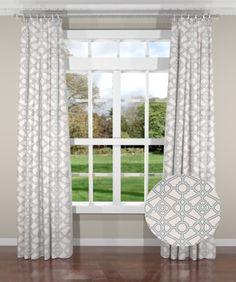 New South Home Couture Garden Gate Aqua Custom Drapery Panels