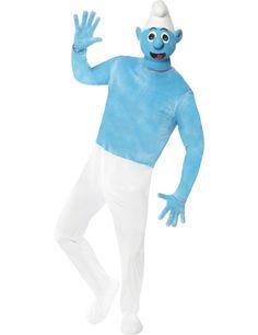 Schlumpf Schlümpfe Comic #Kostüm blau-weiss.  Kategorie: Film- & Promikostüme! Bekannte Verkleidungen aus den Lieblings-Filmen und -Serien. Das perfekte Outfit für #Karneval und die nächste Mottoparty! #Fasching #Fasnacht