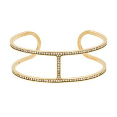Michael Kors Yellow Gold-Tone H-Cuff Bracelet - Item 19548759 | REEDS Jewelers