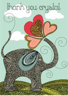 Isn't this just the cutest retro designer elephant.      Customise this design with your own name today at Moonpig.com.au Personalized Thank You Cards, Retro Design, Your Cards, Card Making, Elephant, Symbols, Letters, Handwriting, Day