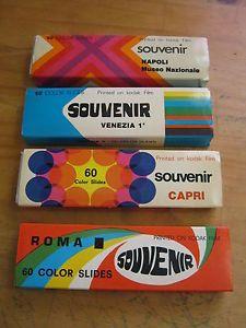 240 Souvenir Photo Travel Slides Kodak Color 1960's 70s Italy Capri Naples Rome