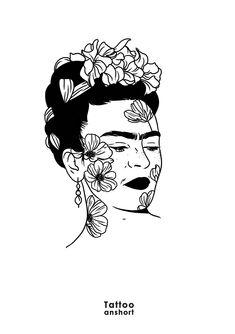 ☮ ☮ insta: espritearth snap: espritearth pint: espritearth twit: e . ☮ ☮ insta: espritearth snap: espritearth pint: espritearth twit: e . Frida Tattoo, Frida Kahlo Tattoos, Tattoo Drawings, Art Drawings, Kahlo Paintings, Frida Art, Doodle Art, Art Inspo, Line Art