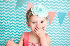 2-year-old girl coral and turquoise #bellaroseportraits