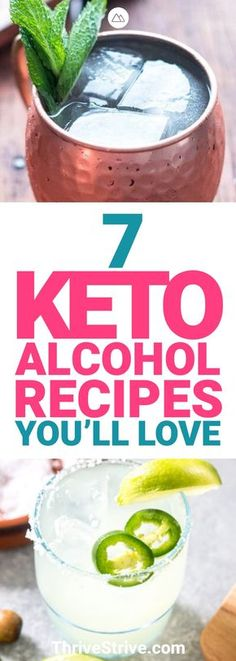 The ketogenic diet forces you to be smart about what you drink on a night out. These 7 keto alcohol recipes make that night out much easier to handle. - Keto Alcohol Recipes: 7 Drinks Safe for the Ketogenic Diet Keto Desserts, Keto Snacks, 7 Keto, Keto Fat, Low Carb Drinks, Healthy Drinks, Diet Drinks, Beverages, Healthy Food