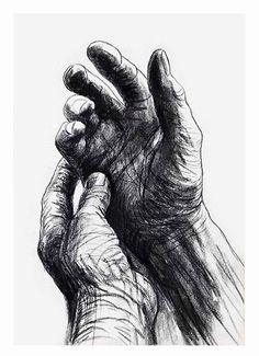 Henry Moore, The Artist's Hands .1974 on ArtStack #henry-moore #art