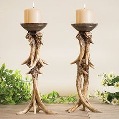 Antler Pillar Candle Holder * Check out this great product.Note:It is affiliate link to Amazon.