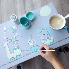 Baby Painting, Painting For Kids, Painting On Wood, Baby Milestone Cards, Baby Cards, Baby Shower Baskets, Simple Canvas Paintings, Fabric Stamping, Art N Craft