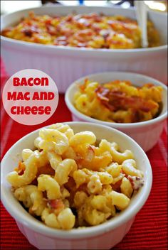 Bacon Mac and Cheese - the addition of bacon to this family favorite really kicks this recipe up a notch and will make it a family favorite!...