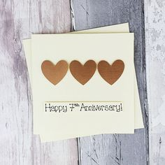 7th anniversary card Copper wedding anniversary card | Etsy Happy Anniversary Husband, 7th Wedding Anniversary, Husband Birthday, Cute Easy Drawings, Baby Girl Cards, Copper Wedding, Congratulations Card, Heart Cards, Gifts For Wife