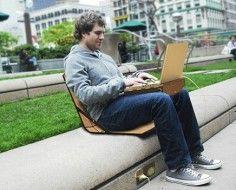 La maleta silla que arrasa: la maleta del portátil se convierte en una cómoda silla para trabajar en cualquier sitio.