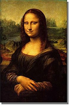 Mona Lisa By Leonardo Da Vinci Picture on Stretched Canvas, Wall Art Decor Ready to Hang!.