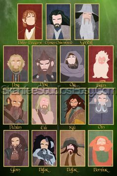 The Hobbit Poster Minimalist Poster Character by SkahfeePortraits, $25.00
