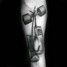 Boxing Gloves Would Dumbbell Mens In A Form Fitness Tattoos