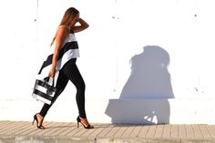 The Astoria black and white bag by PielFort Luxury.