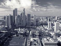 Financial District, Singapore Photographic Print by Alan Copson at Art.com