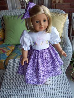 American Girl doll or 18 inch doll dress  by ASewSewShop on Etsy, $14.99