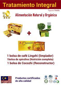 Los productos de DXN son 100% alimentos naturales orgánicos, que ayudan a tu cuerpo a recuperar su salud naturalmente. Vive libre y saludable